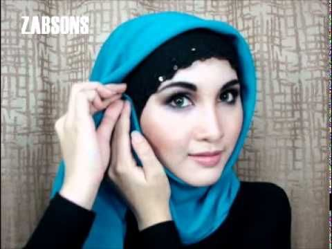 ▶ Hijab Tutorial #3 Earrings Party Look - How to Wear Hijab Scarf Shawl Pashmina - YouTube