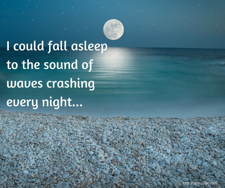 Beach Saying:  I could fall asleep to the sound of waves crashing every night