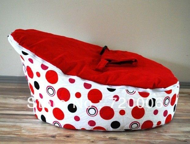 Бесплатная доставка красные точки с красной верхней ребенка жгут погремушка кроватки, детские кровати бобов спальный мешок, детские коляски мешок фасоли в Детские кресла и диван из детских продуктов на Aliexpress.com $35.60