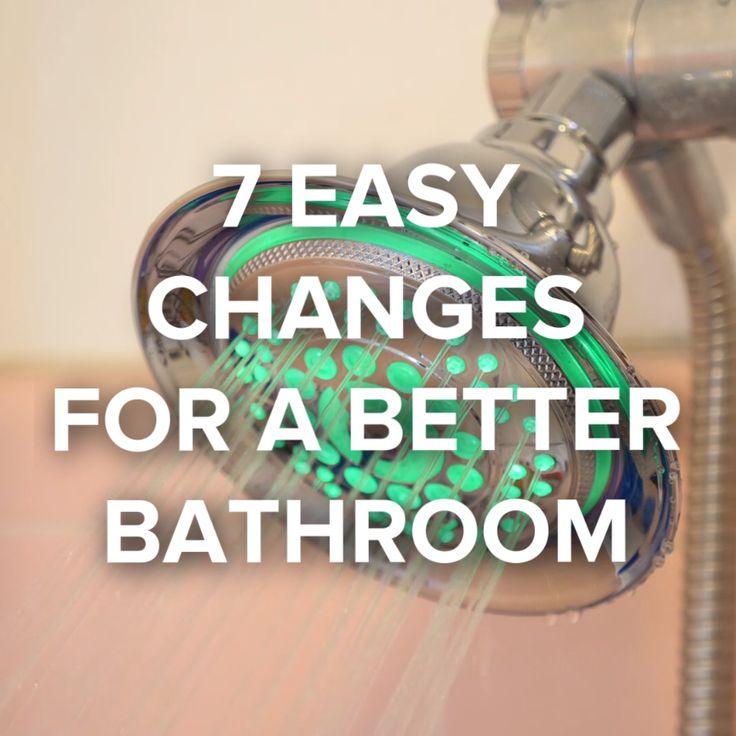 7 Cheap And Easy Bathroom Upgrades #hacks #bathroom #easy