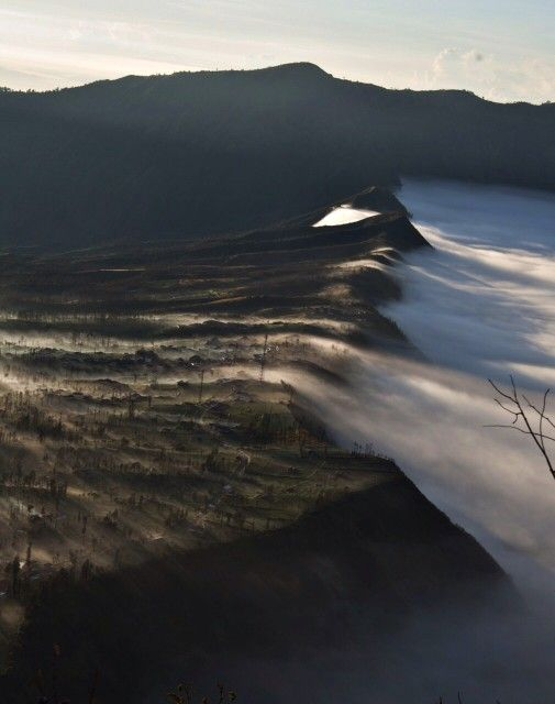 The morning mist in Bromo, Bondowoso, East Java