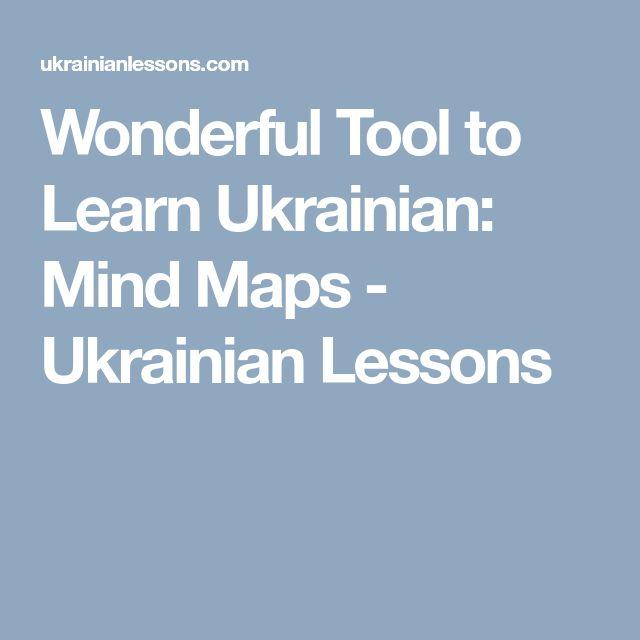 Wonderful Tool to Learn Ukrainian: Mind Maps - Ukrainian Lessons