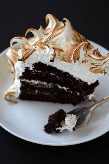 torta al cioccolato con glassa di meringa