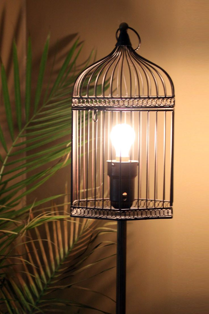 Vintage Birdcage Floor Lamp For All Those That Love Bird