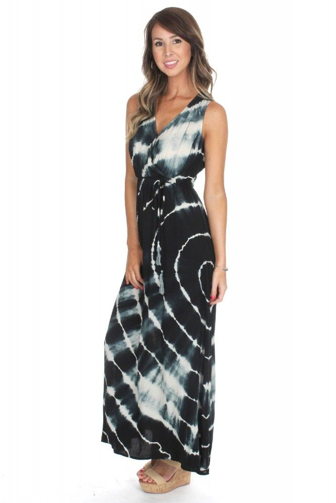 Tie Dye Wrap Maxi ($42.99) #sophieandtrey #weshipfree #freeshipping #boutique #affordable #clothing #attire #clothes #cheap #preppy #casual #formal #dressy #boho #edgy #backtoschool #sorority #homecoming #social #formal #prom #cute #clothing #ootd #black #white #tiedye #tie #dye #maxidress #maxi #dress #longdress #long #wrap
