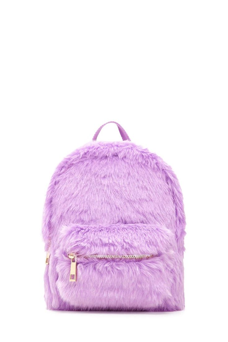 Faux Fur Mini Backpack from Forever 21