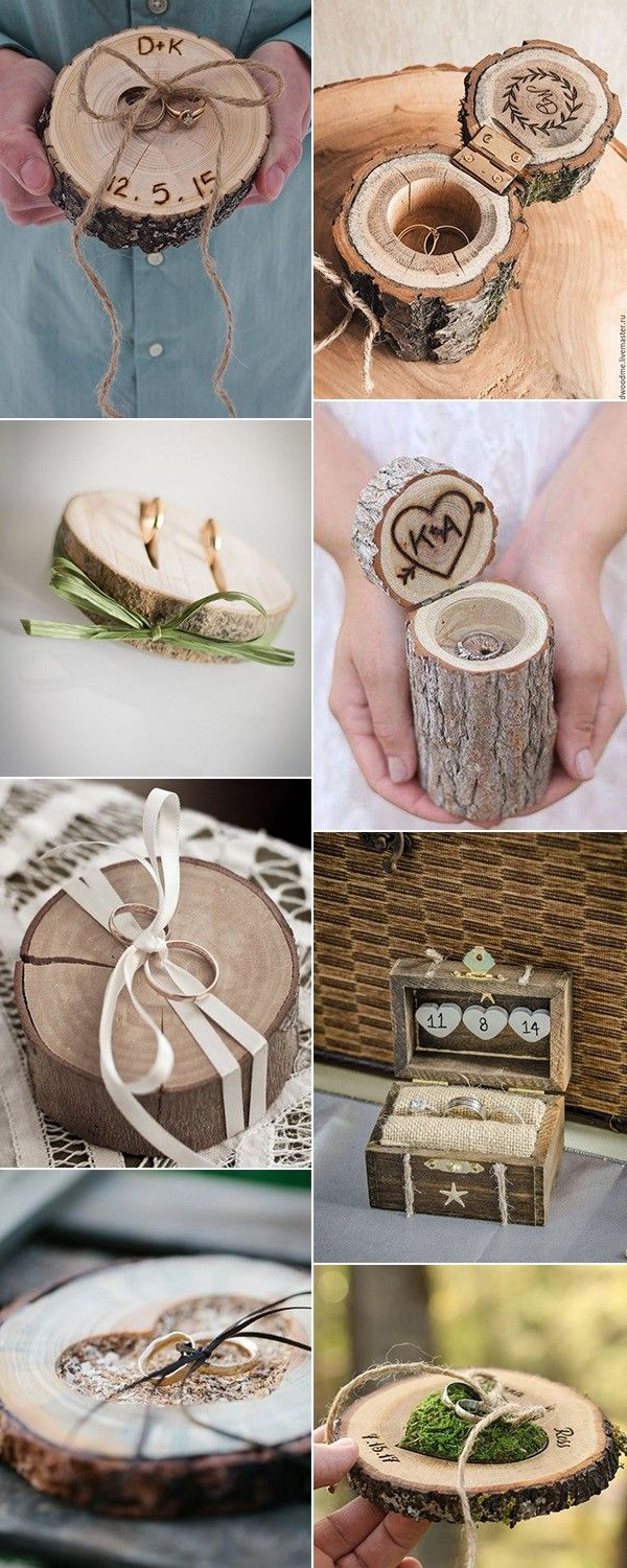 Top diy rustic wooden wedding ring pillows youull love wedding