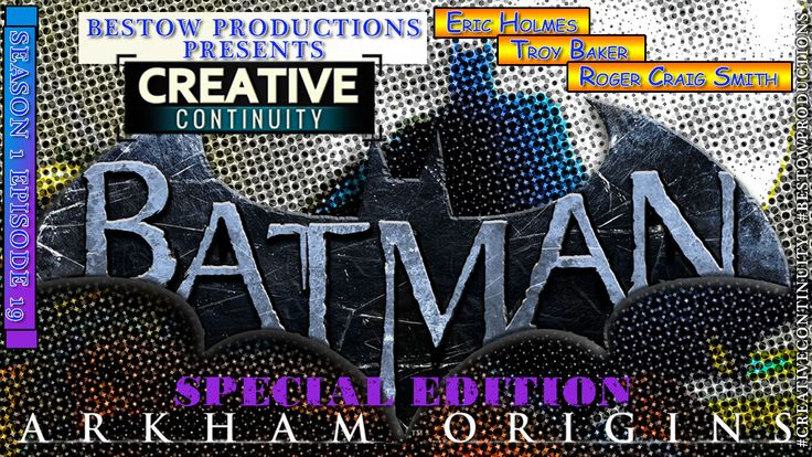 """Episode 19, Season 1, of """"Creative Continuity"""" presents a special edition. Arkham Origins is about to break loose. Game director Eric Holmes lends some insight to this prequel. Troy Baker (voice of Joker) relives his boyhood dream to be the voice of an iconic villain. Roger Craig Smith (voice of Batman) tells us how he prepares to become the Batman. All recorded at New York Comic Con.   Game Footage provided by WB Games Montreal"""