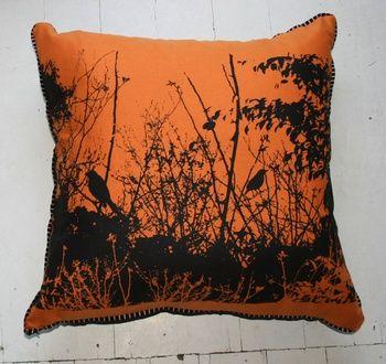 Sunset Bower Bird Cushion & Insert from Paloma Le Sage Paloma Le Sage   Blue Caravan Ethical Design Market