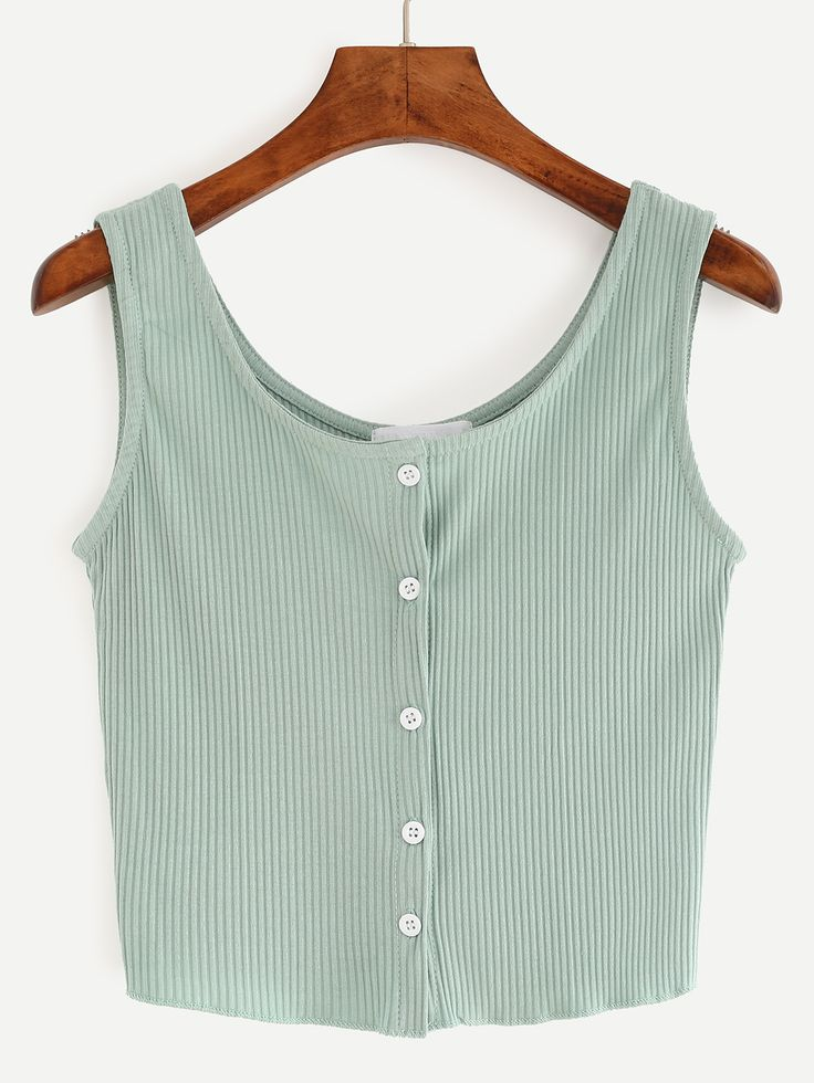 Fabric: Fabric has some stretch Season: Summer Color: Green Pattern Type: Plain Neckline: Round Neck Material: Cotton Blend Style: Casual Shoulder(cm): 33cm Bust(cm): 72-82cm Length(cm): 42cm Size Ava