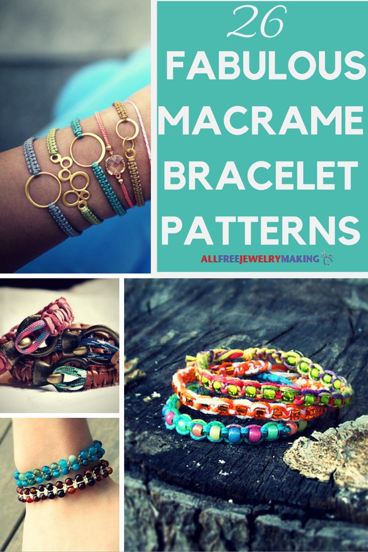 Making macrame bracelets never goes out of style.