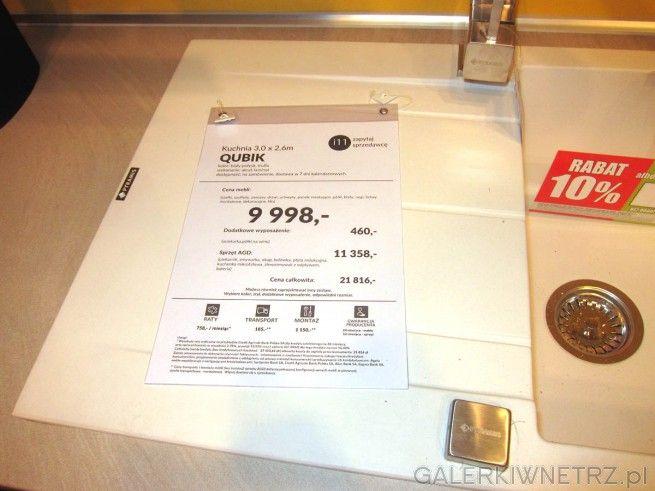 Kuchnia QUBIK z Agaty Meble znajduje sięw ofercie w cenie 9 998 złotych w wersji ...
