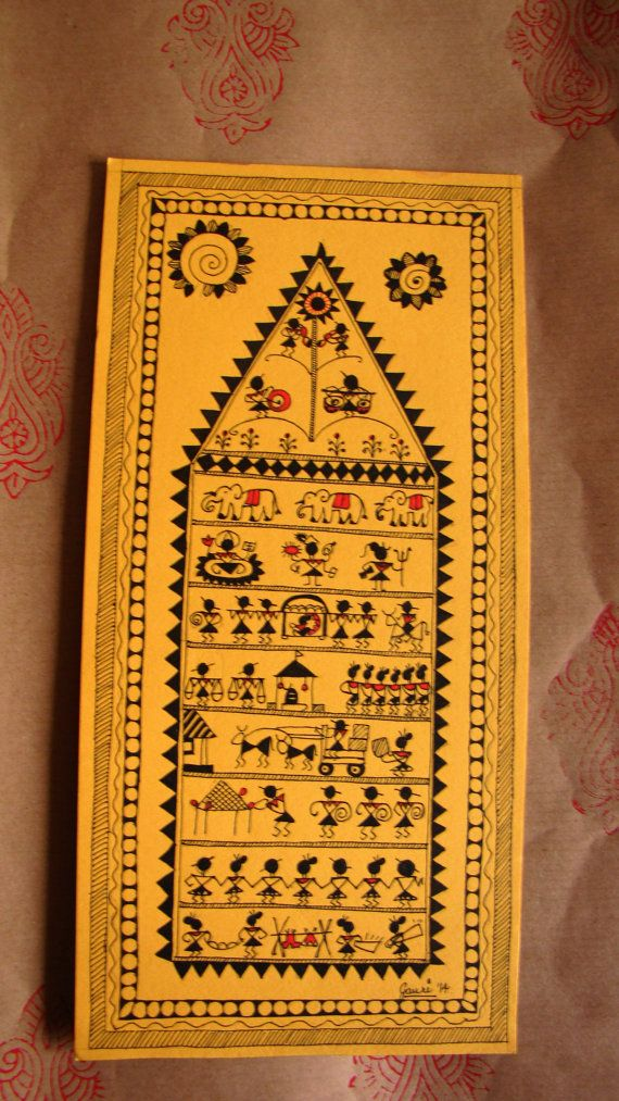Warli Art Panel by GAPGallery on Etsy, £20.00