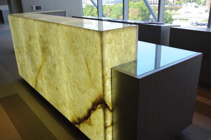 Onyx Tiles For Counters : White onyx reception desk levantina dallas natural