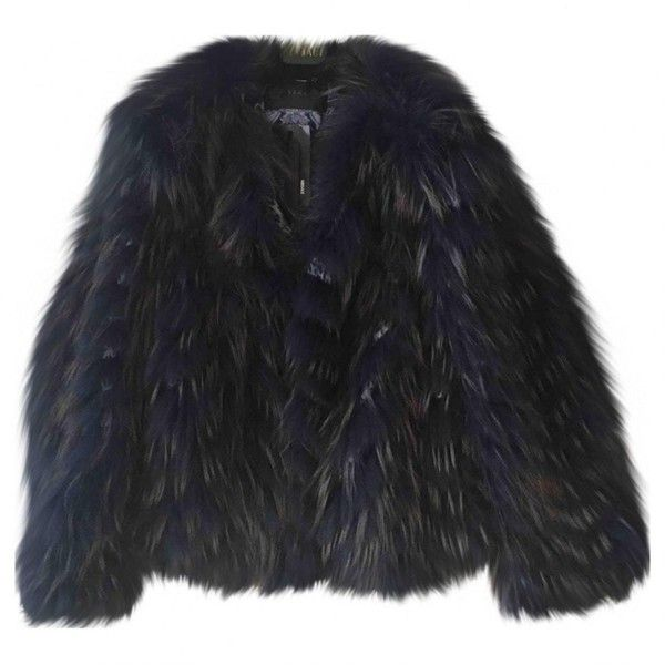 Pre-owned Versace Racoon Fur Coat (352.190 RUB) ❤ liked on Polyvore featuring outerwear, coats, blue, women clothing jackets, versace, versace coat, blue coat, blue fur coat and fur coat