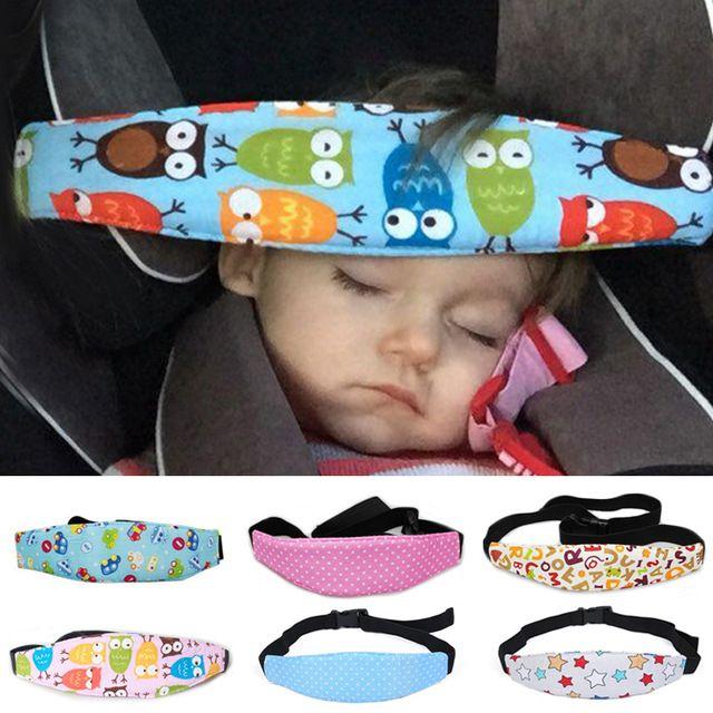 Love this idea! Adjustable baby head support for sleeping baby! #affiliatelink #baby #sleeping #headband #allthingsbaby