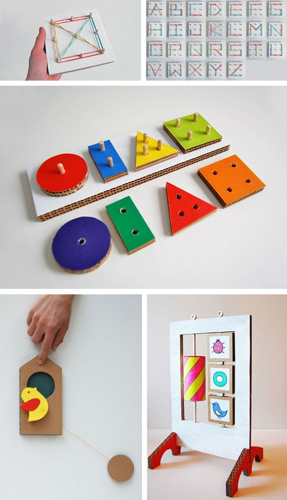 Cardboard learning toys in Entertainment, books and tales for babies and kids