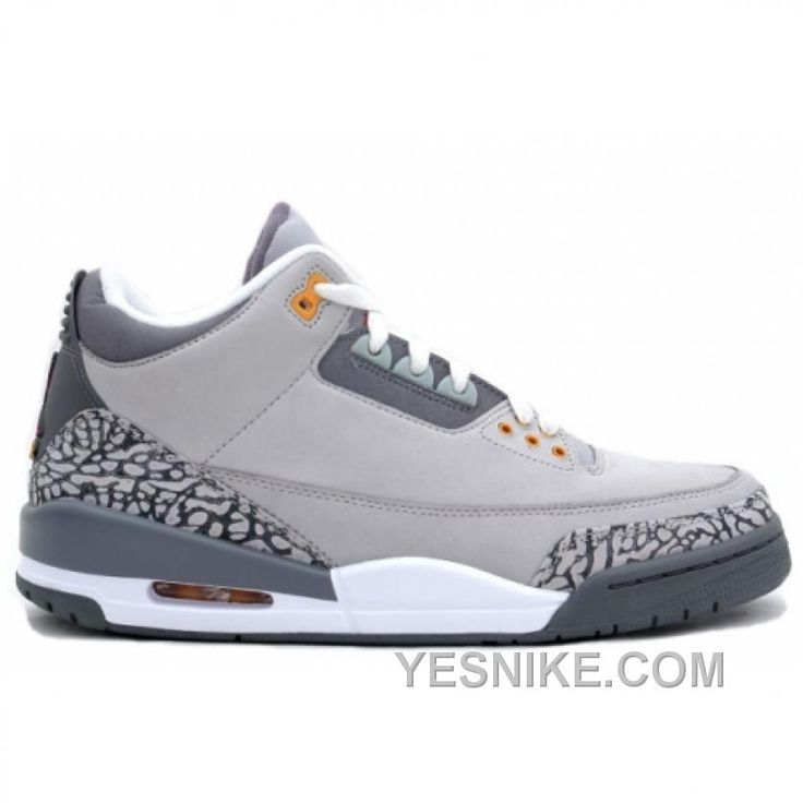 315297 062 Air Jordan Retro 3 Cool Grey Light Grey Silver Sport Red Orange  Peel cheap Jordan If you want to look 315297 062 Air Jordan Retro 3 Cool  Grey ...