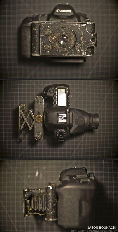 It's about passion!Canon5D, Vintage Cameras, Cameras Lens, 5D Mark, Cameras Hacks, Digital Cameras, 100Yearold Cameras, Folding Cameras, Canon 5D