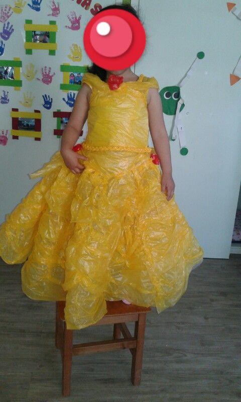 vestido la bella #materialdereciclaje