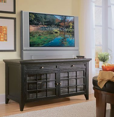 Hooker Transitional Black 55-inch TV Stand