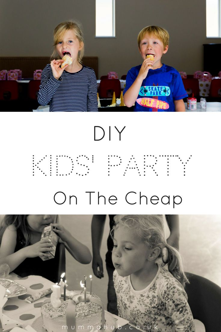 Organising a children's birthday party on the cheap.