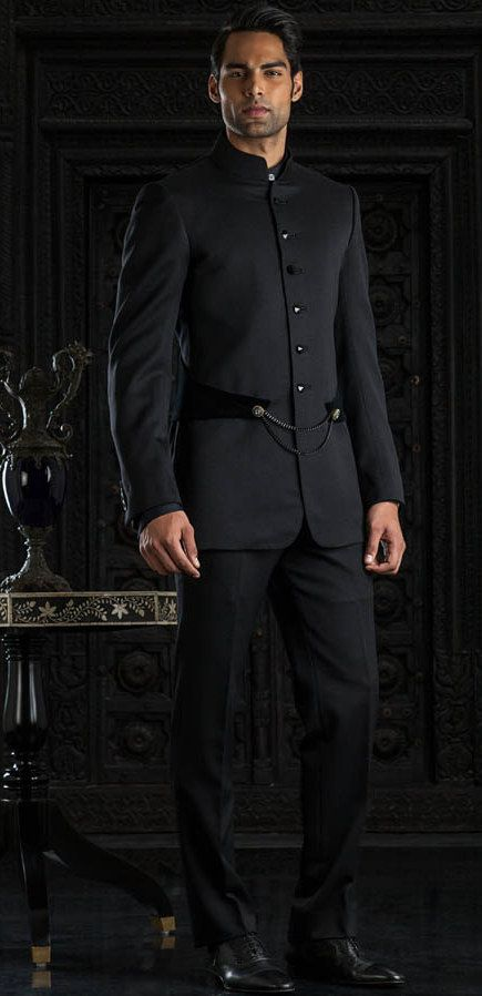 Tarun Tahiliani also collaborated with Savile Row's Whitcomb & Shaftesbury and created a range of bespoke sherwanis, Indianizing the Savile Row fine tailoring experience. Classic tuxes and bandhgalas in super fine cashmere and the finest of satins provide subtle yet established elegance.