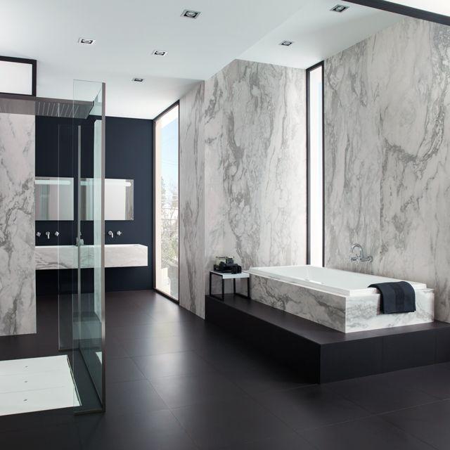 Urbatek XLight Nvy | Marble Look Slimline Porcelain Slabs | Available at Ceramo
