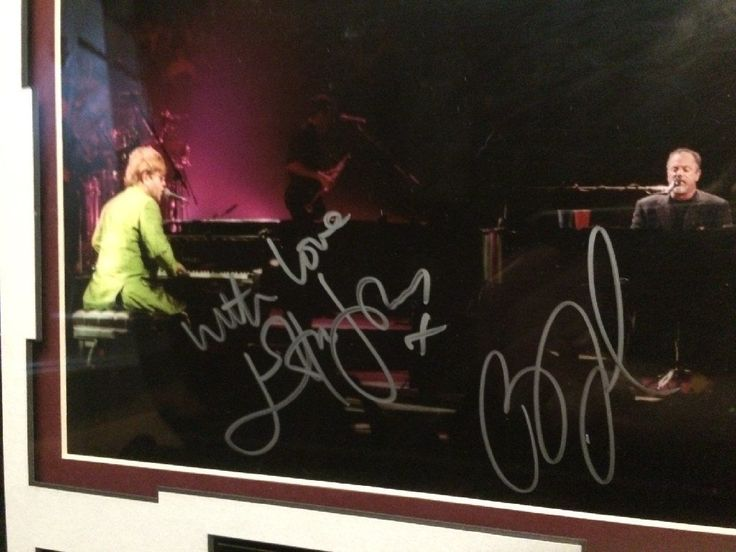 """#BillyJoel and #EltonJohn """"the #Pianomen"""" tour #autographs Collectibles / Art - #Lisle IL at Geebo"""