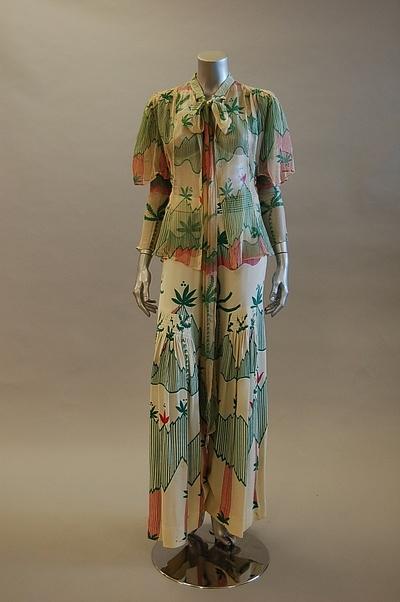 Ossie Clark w/Celia Birtwell print ensemble