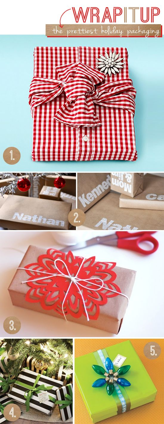 Creative ways to wrap gifts! I am going to try some of these this Christmas!Creative Wraps, Wrap Gifts, Christmas Holidays, Gift Ideas, Creative Christmas Wraps, Gift Wraps, Wraps Gift, Christmas Gifts, Wraps Ideas
