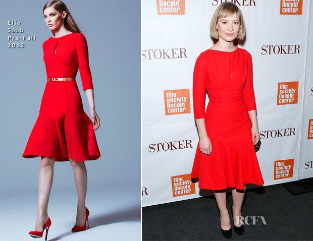 Mia Wasikowska In Elie Saab – 'Stoker' New York Screening