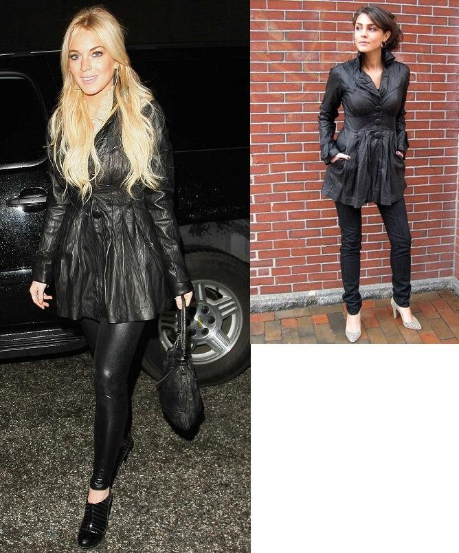 Lindsay Lohan Leather Jacket November 2017