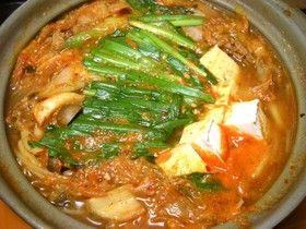 簡単本格! 自家製スープのキムチ鍋!