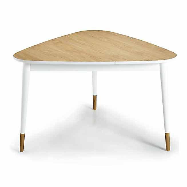Deelta Table triangulaire L129cm avec rangement