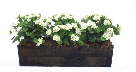 Artificial Geranium Flower Box From Evergreen Direct