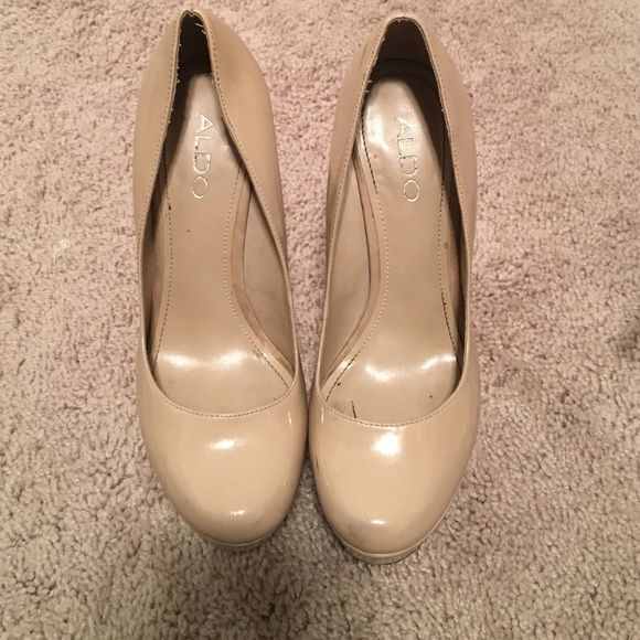 nude aldo heels worn a couple of times. pretty good condition ALDO Shoes Heels
