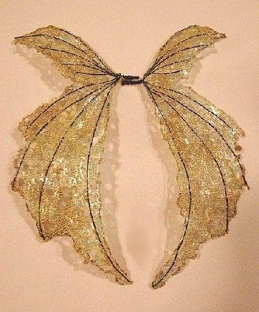 Uno de una hada bueno alas-iridiscente-en oro alas por chloe6788