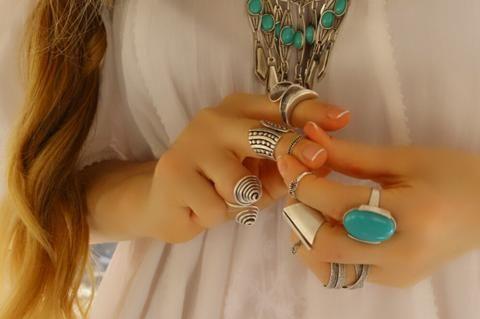 İşlemeli Yüzük, Ayarlanabilir / Antik Gümüş, Yüzük, Takimania - 1
