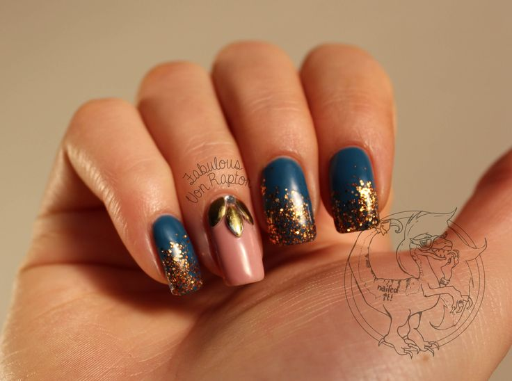 Fabulous Von Raptor - Bronze Age with Patina | Nail Art | Metalic | Bronze | Teal