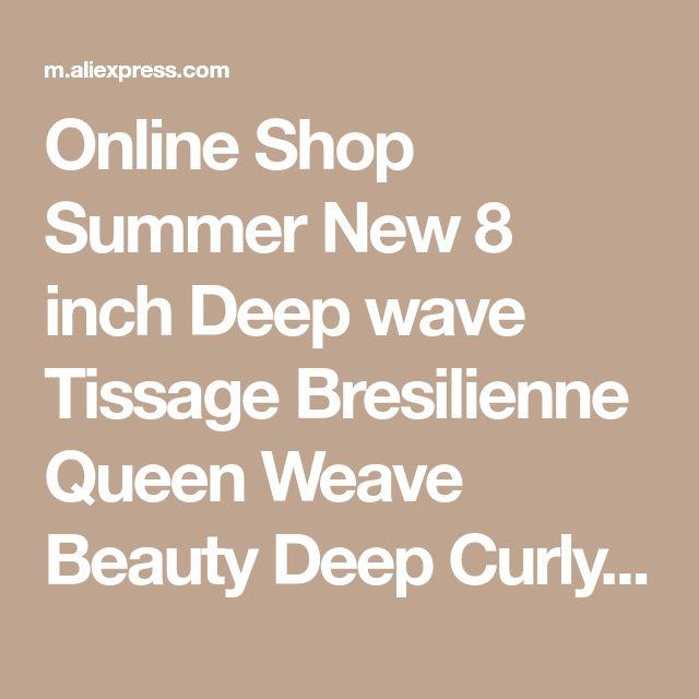 Online Shop Summer New 8 inch Deep wave Tissage Bresilienne Queen Weave Beauty Deep Curly Short Hair With Closure West Kiss Virginhair Deals | Aliexpress Mobile