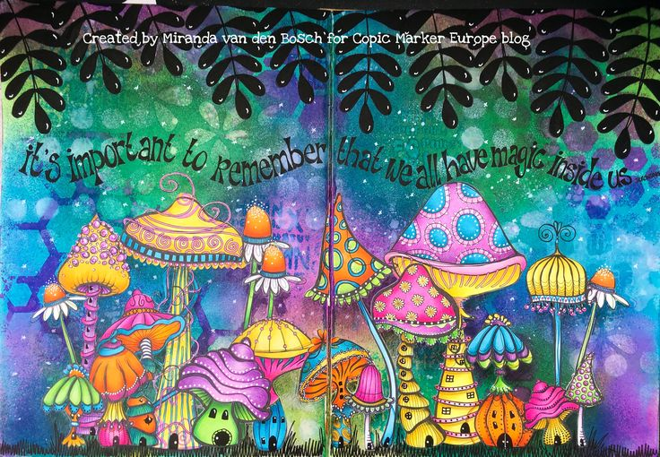 Background Dylusions inks images by Mischief Circus