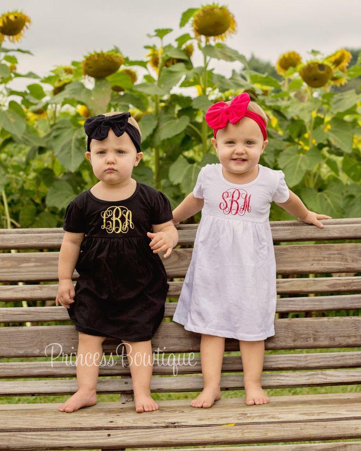 Monogram Smock Baby Dress
