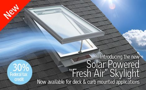 Solar Powered Skylights With Built In Blinds House