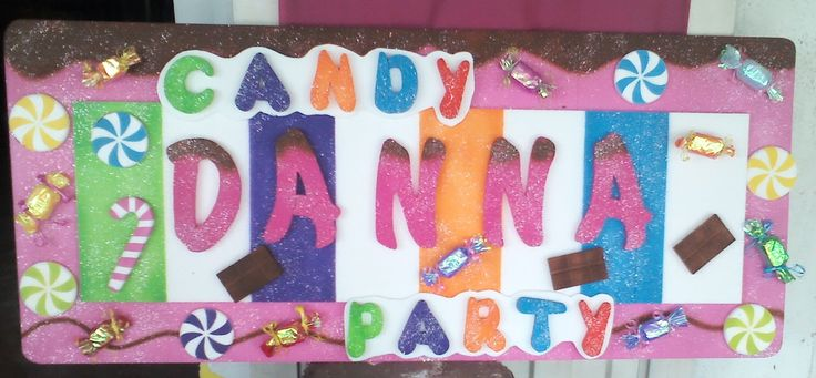 candy party letrero