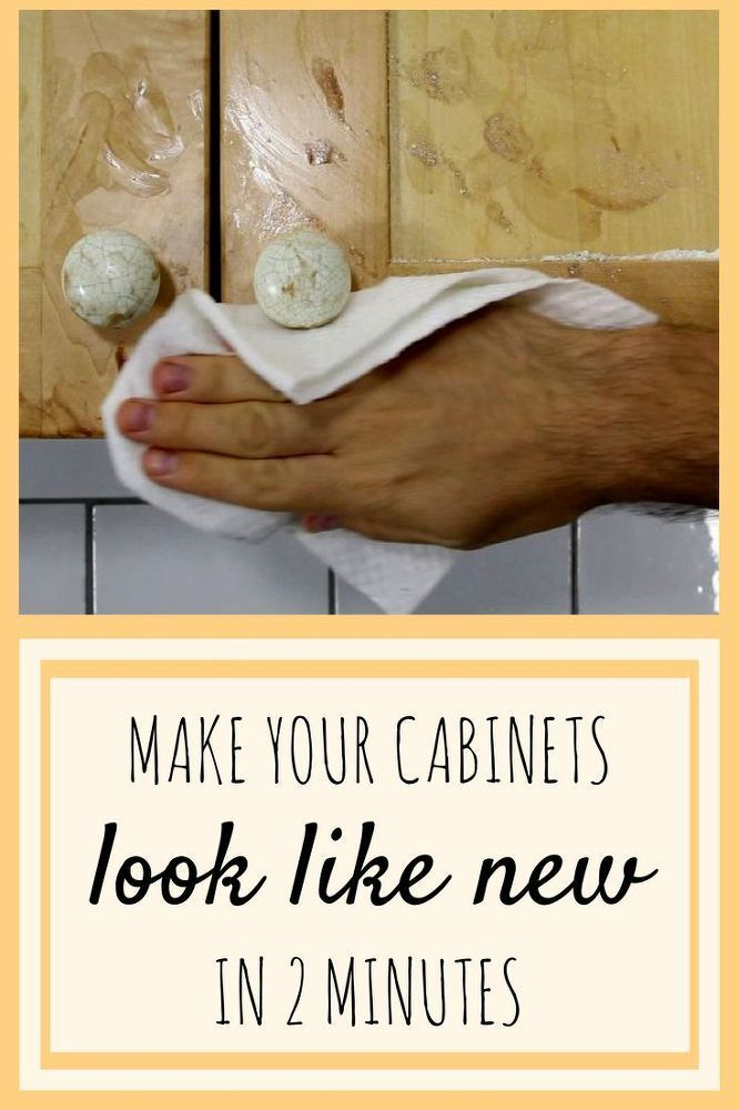 How to clean kitchen cabinets and remove grease from your kitchen cupboards. You'll be so happy you saw this!