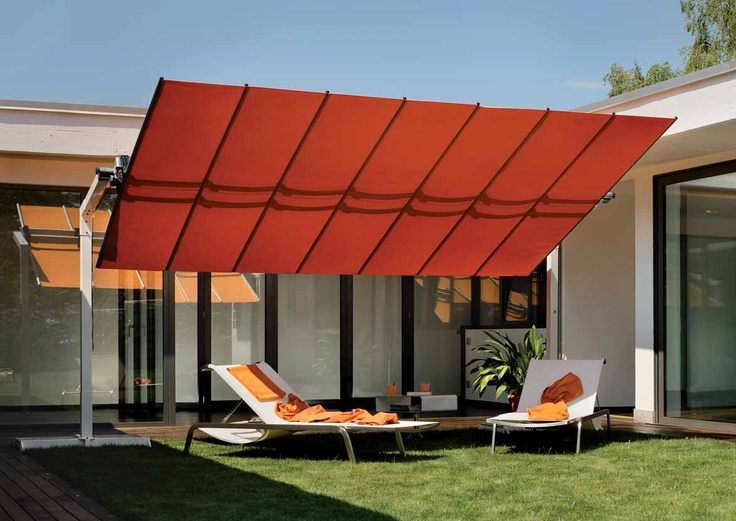 Don't want a permanent awning.  No worries, we've got you covered.  Choice of fabric and sizes. #furniture #outdoor #contemporary