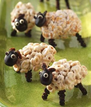 Cute Dads in the Kitchen: How to Make Marshmallow Sheep Snacks [VIDEO]