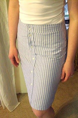 Men's Shirt >> Pencil Skirt - I LOVE THIS! I don't know why? But it's awesome. I need a sewing machine.