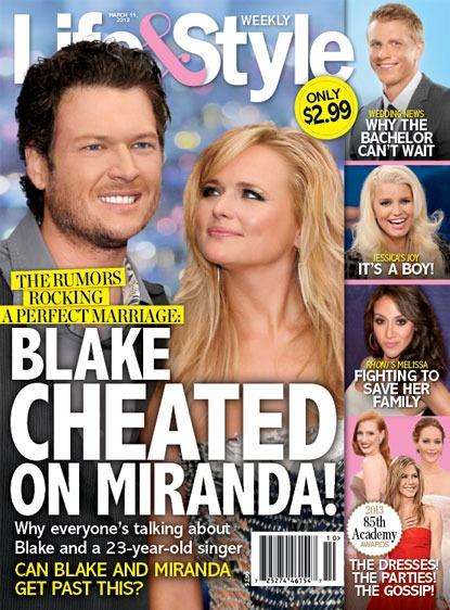 Blake Shelton and Miranda Lambert Joke About Infidelity Rumors
